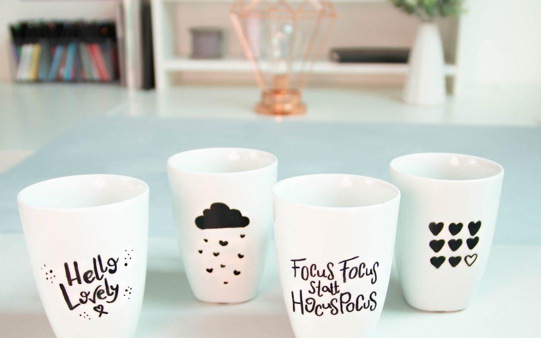 Tassen belettern – DIY Geschenkidee