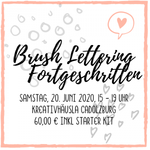 Brush Lettering Fortgeschrittene Workshop