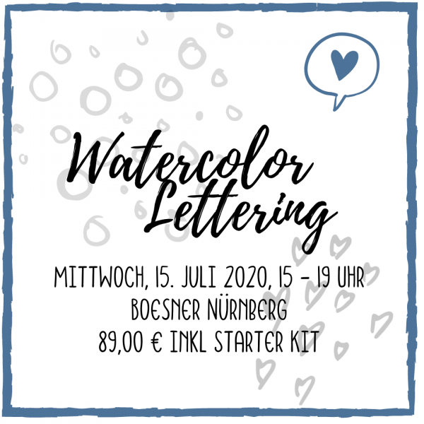 Watercolor Lettering Workshop