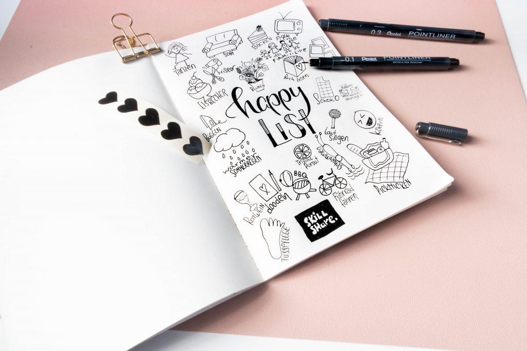Bullet Journal happy list