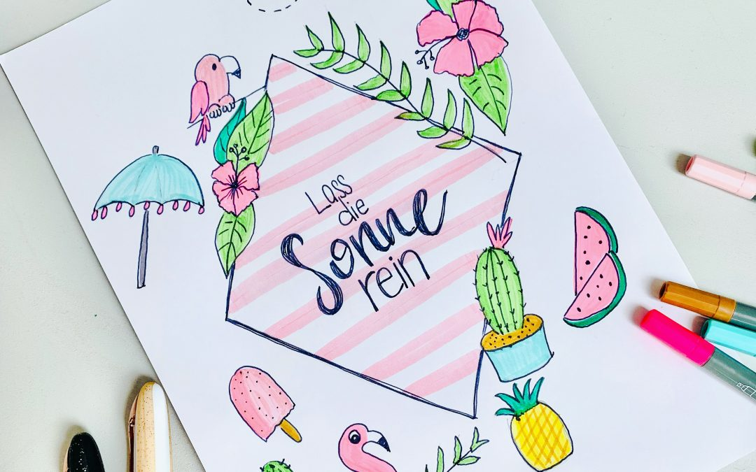 IG Live Session – sommerliches Lettering